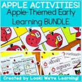 #MarkdownMonday Preschool Apple Worksheets Bundle - Apple Activities!
