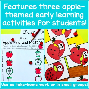 Preschool Apple Worksheets Bundle - Apple Activities!