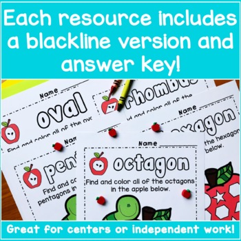 Preschool Apple Worksheets Bundle Apple Activities By Look Were