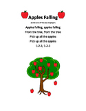 Preschool Apples Falling Free Printable