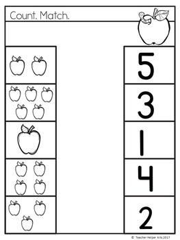 Preschool Apples Mini-Unit Printables