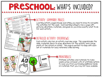 Preschool: Apples {Plans and Printables}