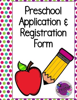 Preschool Application & Registration Form