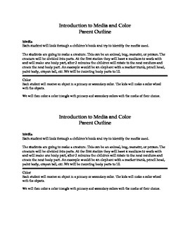 Introduction to Media and Color Lesson Plan