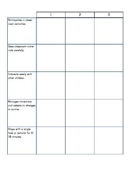Preschool Assessment 2