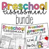 Preschool Assessment BUNDLE with Materials