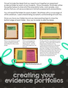 Preschool Assessment Evidence Collection Kit