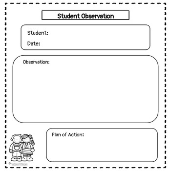 Preschool Assessment Forms
