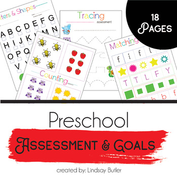 Preschool Assessment & Goals Workbook