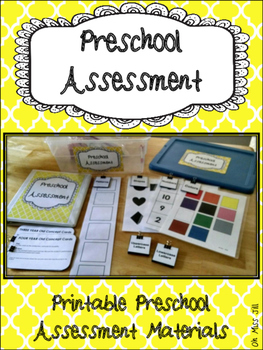 Preschool Assessment Materials Pack