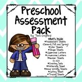 Preschool Conference - Assessment Pack