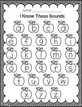 Preschool Assessment Pages