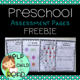 Preschool Assessment Pages
