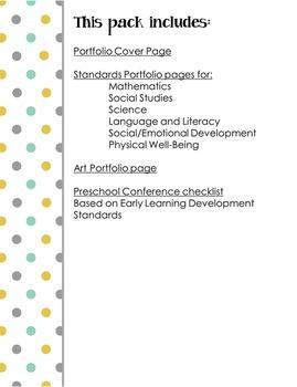 Preschool Assessment Portfolio Pack EDITABLE