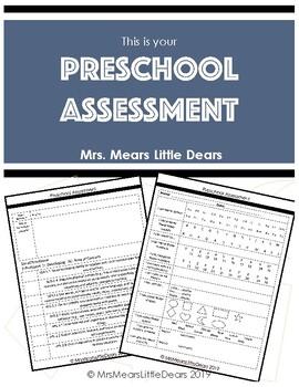 Preschool Assessment/Report Card