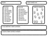 Preschool Assessment Sheet
