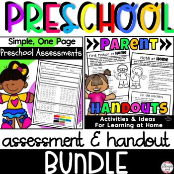 Preschool Assessment and Parent Handout Bundle