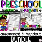 Preschool Assessment and Parent Handout Bundle