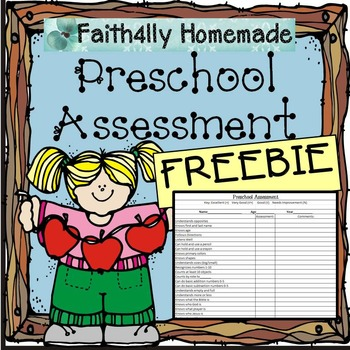 Preschool Assessment_Freebie