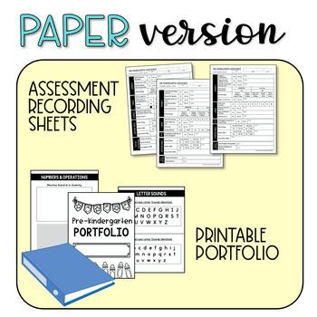 Play-Based Preschool Assessments & Portfolio