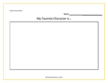 Preschool Author Study Printable Pack