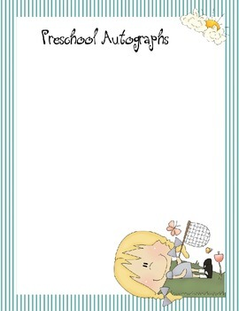 Preschool Autograph Book