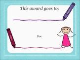 Preschool Awards Template