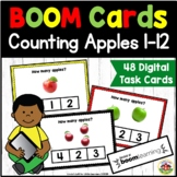 Preschool BOOM Cards: Counting Apples 1-12