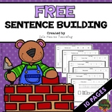 Sentence Building Worksheets (FREE)