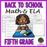 5th Grade Back to School Activities: 5th Grade First Week of School Activities