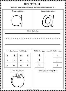 Alphabet Bracelets and Alphabet Letter Worksheets
