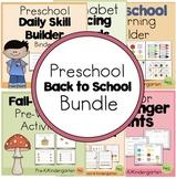 Preschool Back to School Bundle (Prek Distant Learning-Home Learning Pack)