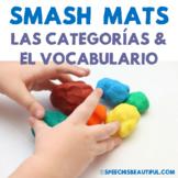 Spanish Speech Therapy - Preschool Basic Categories Smash Mats - NO PREP