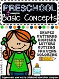 Preschool Basic Concepts Worksheets
