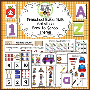 Preschool Themed Activities:  Back To School