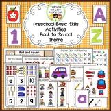 Preschool Basic Skills Activities:  Back to School Theme