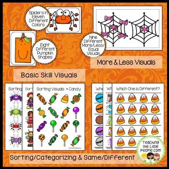 Preschool Basic Skills Activities:  Halloween Theme