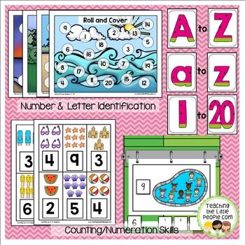 Preschool Basic Skills Activities:  Summer Theme