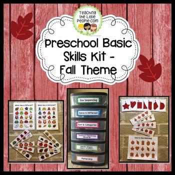 Preschool Basic Skills Activity Kit - Fall Theme
