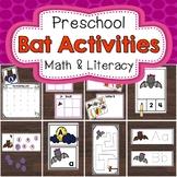 Preschool Bats Math and Literacy Activities