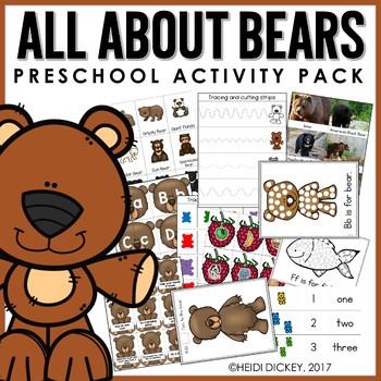 Preschool: Bear Learning Pack