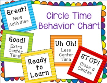 Preschool Behavior Management Chart