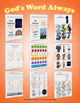 Preschool Bible Lesson Extras Unit 1