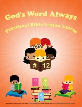 Preschool Bible Lesson Extras Unit 12