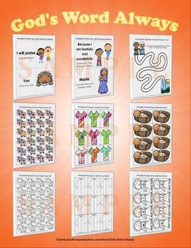 Preschool Bible Lesson Extras Unit 2