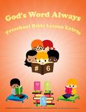 Preschool Bible Lesson Extras Unit 6