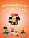 Preschool Bible Lesson Extras Unit 8