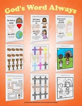Preschool Bible Lesson Extras Unit 9
