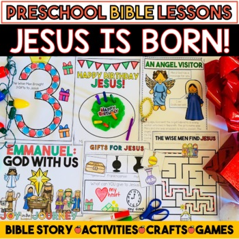 Preschool Bible Lessons: Christmas Jesus is Born!