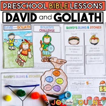 Preschool Bible Lessons David And Goliath Tpt